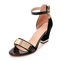 Women's Suede Chunky Heel Sandals Pumps Peep Toe Mary Jane With Buckle shoes